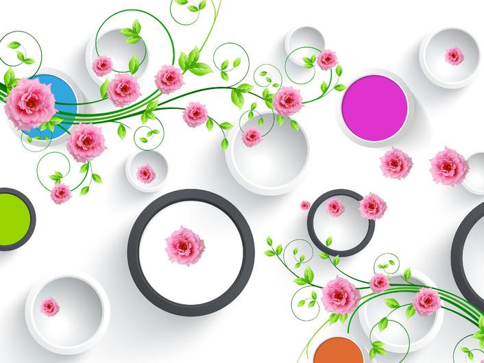 круги с цветами 01039