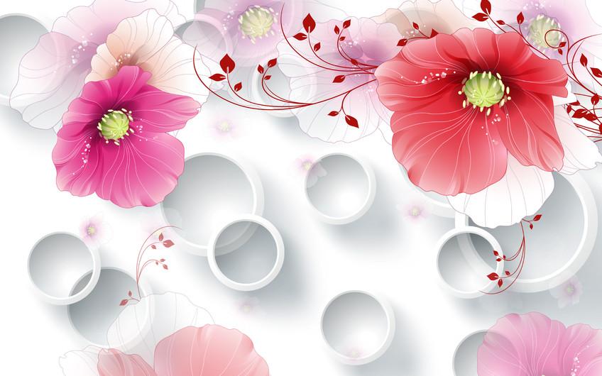 круги с цветами 01142