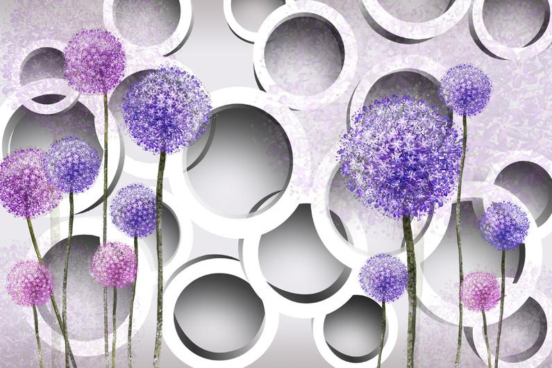круги с цветами 01144