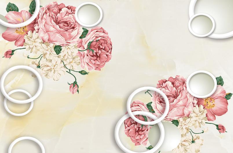 круги с цветами 01145