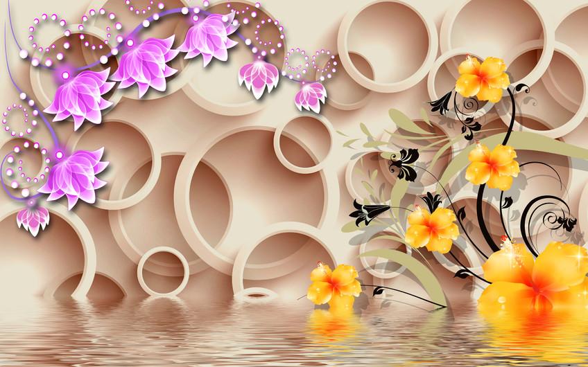 круги с цветами 01146