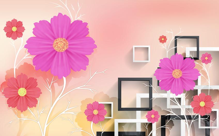 квадраты и цветы 01210