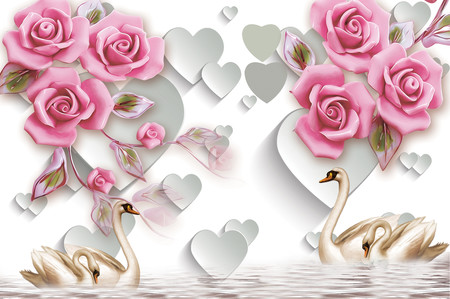 лебеди и розы 01137