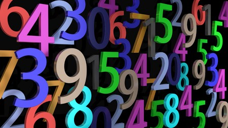Lot of numbers 00599