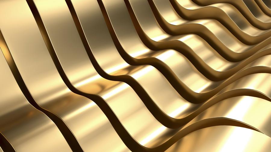 Luxury Golden wave 3D 00882