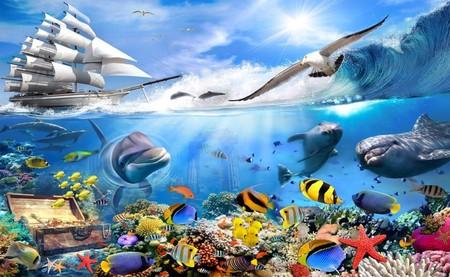 любопытные дельфины 01153