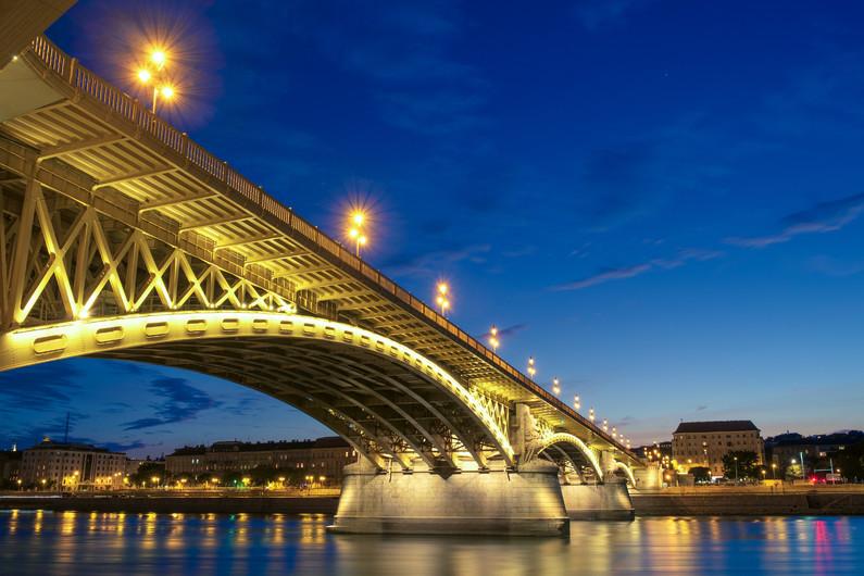 Margaret bridge in Budapest-Hungary 00453