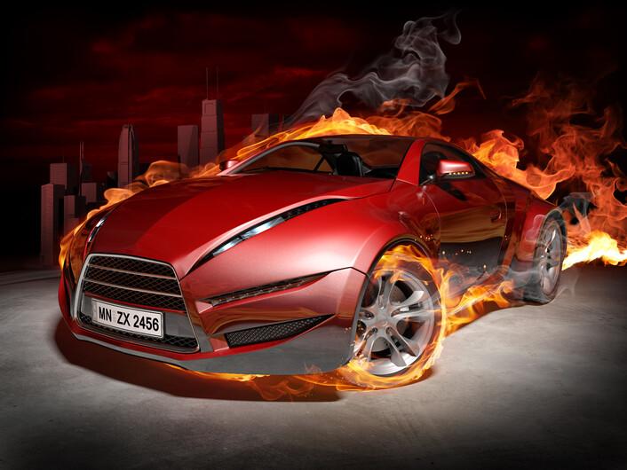 машина в огне 01497
