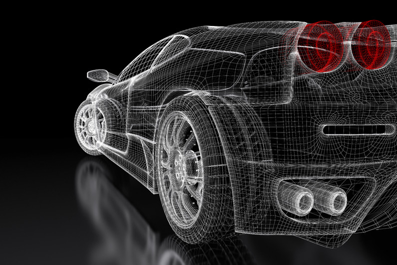 Model of sports car 3D 00865