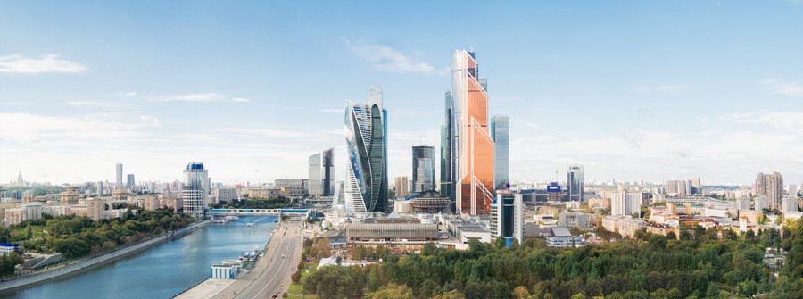 Moscow city panoramic view 00749