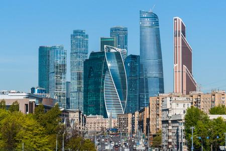 Moscow city Sunny morning 00761