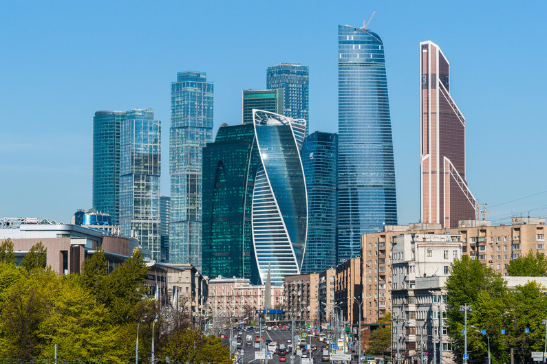 Moscow city Sunny morning 00761