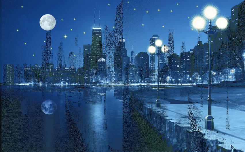 Ночной город 01534