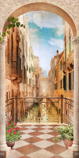 Old Venetian balcony 00443