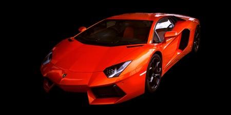 Orange lamborghini 00779