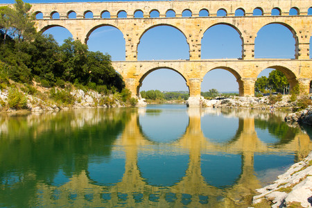 Pont du Gard Roman aqueduct of Nimes 00447