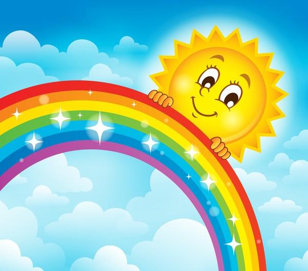 Rainbow and sun 00359