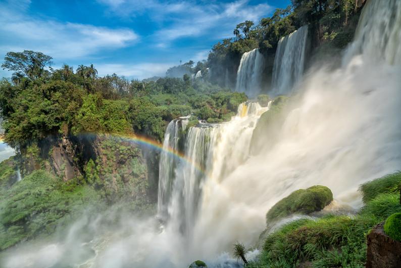 Rainbow in the Iguazu Falls 00317