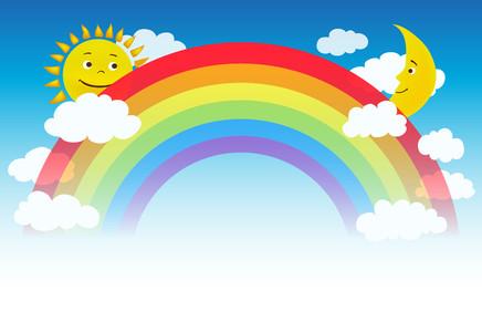 Rainbow moon and sun 00360