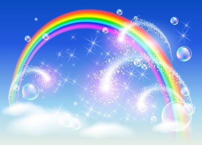 Rainbow sky salute 00351