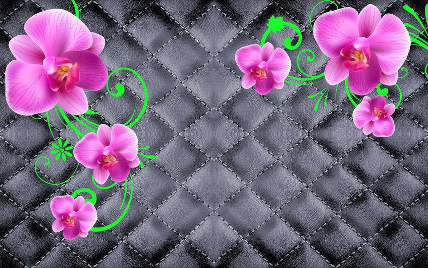 розовые цветы 01100