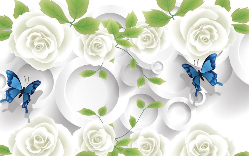 розы и бабочки 01095