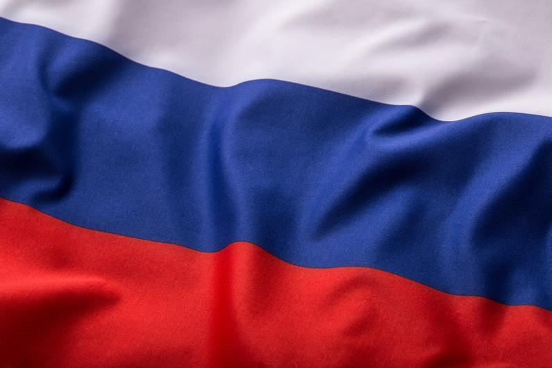 Russia flag 00303