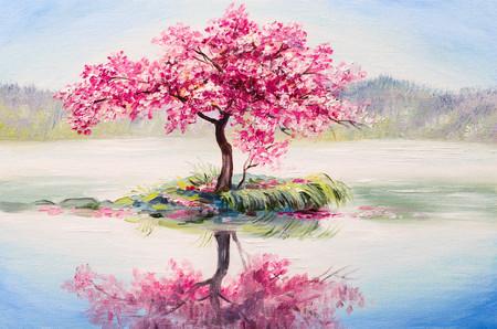 Sakura on the lake 00811