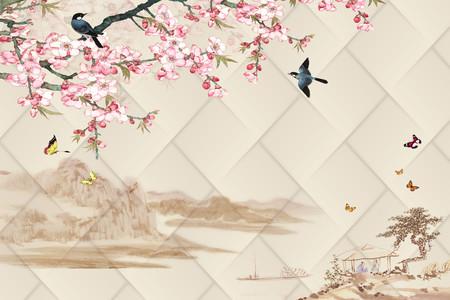 Sakura birds 01009