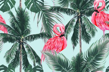 Пальмы & Фламинго 01539