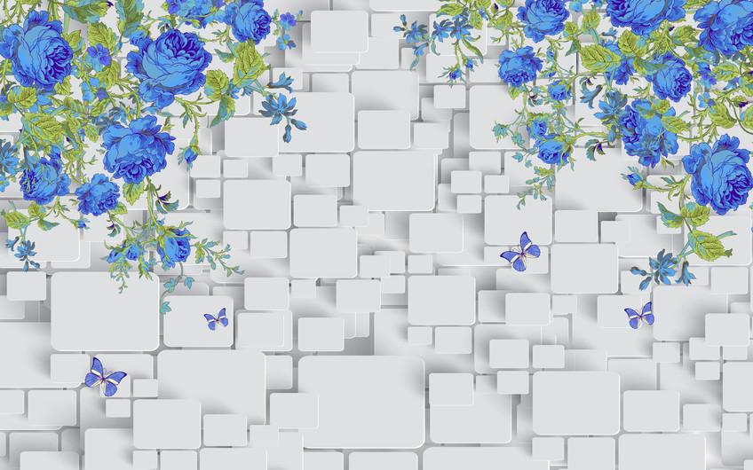синие розы 01227