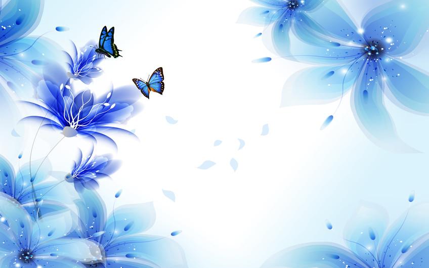 синие бабочки 01113