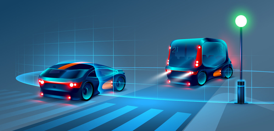 Smart bus and car 00837