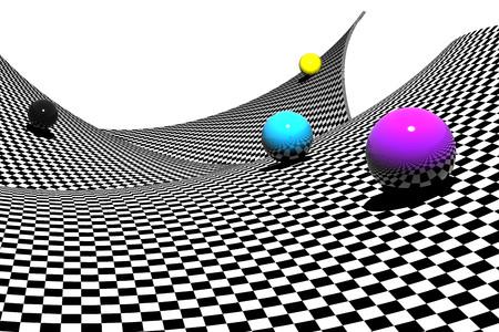 Spheres on a black & white 00285