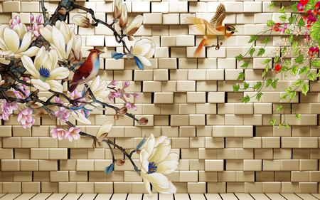 стена цветов 01119