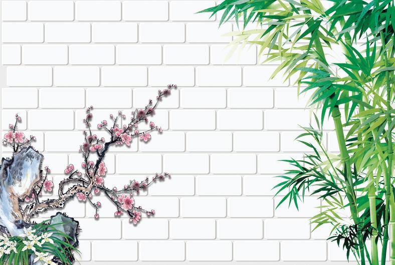 стена цветов 01155