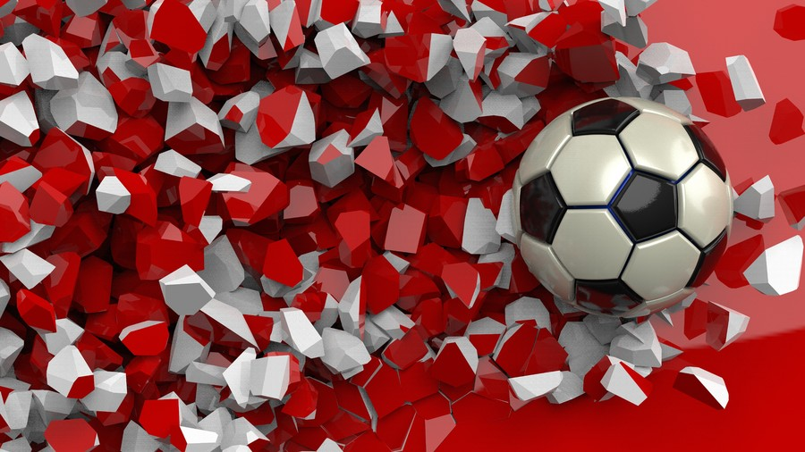The ball crashed into a Red wall 00394