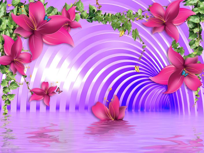 тоннель с цветами 01053