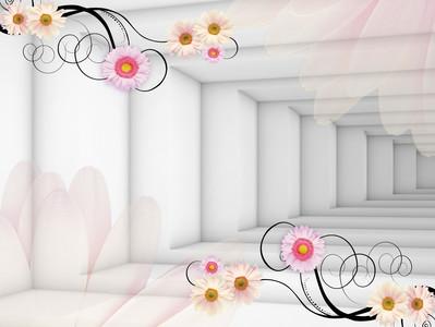 тоннель с цветами 01239