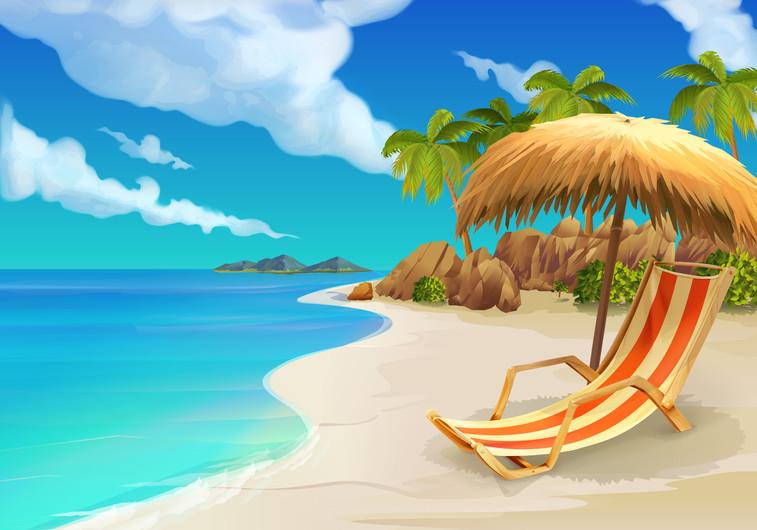 Tropical beach chair 00491