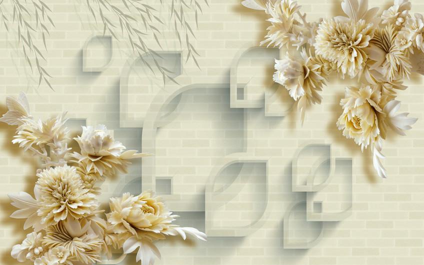 цветочная стена 01229