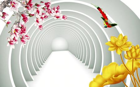 цветочный тоннель 01220