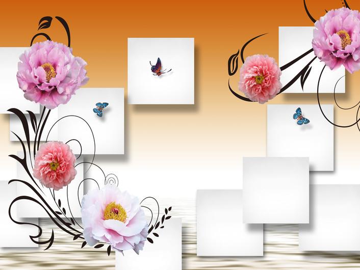 цветы и бабочки 01045