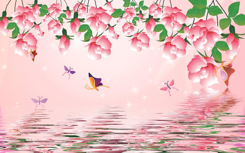 цветы и бабочки 01107