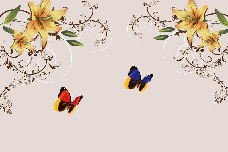 цветы и бабочки 01235