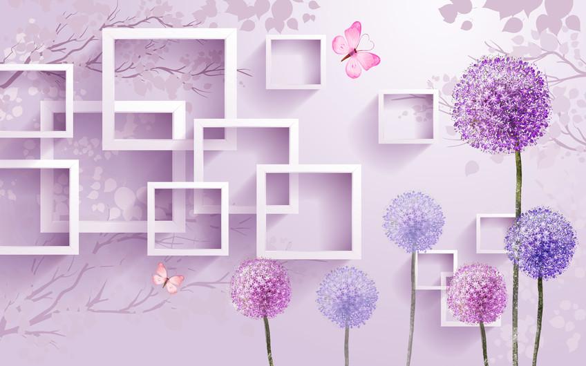 цветы и квадраты 01159