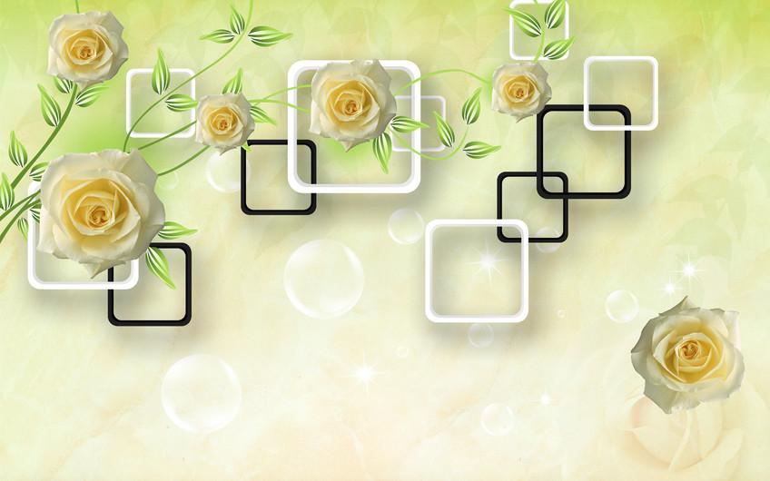 цветы и квадраты 01222