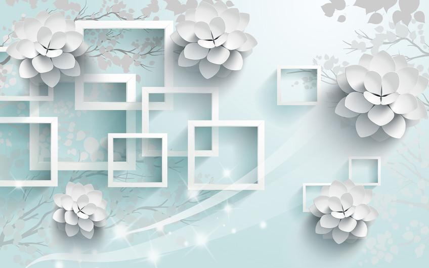 цветы и квадраты 01236
