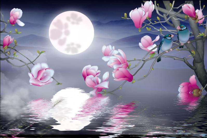 цветы под луной 01110