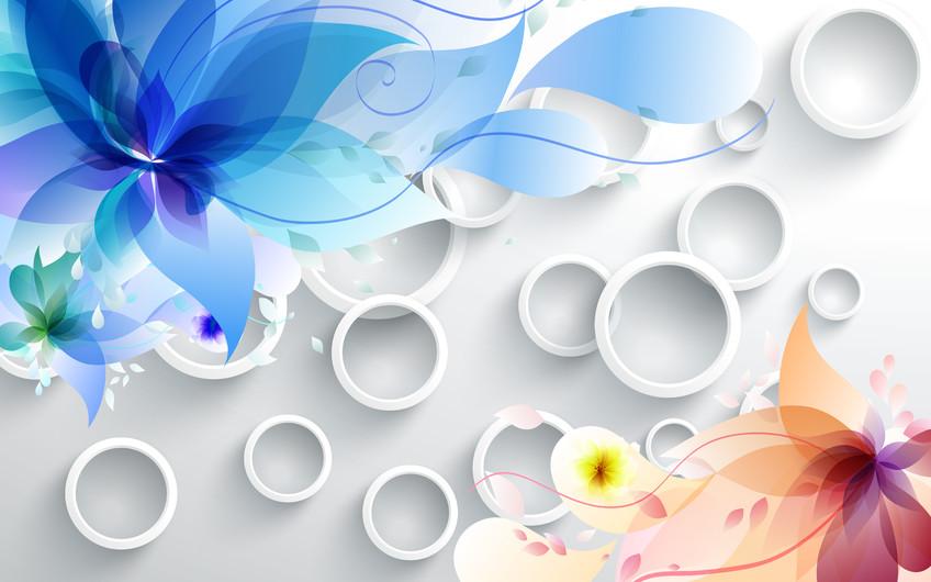 цветы с кругами 01133